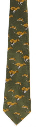 Bisley Polyester Tie - Hounds & Hare (JR-BIT8)